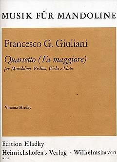 QUARTETT F-DUR - arrangiert für Mandoline - Violine - Viola - Laute [Noten / Sheetmusic] Komponist: GIULIANI FRANCESCO