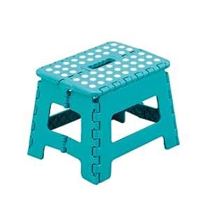 zeller 99164 tabouret pliant en plastique turquoise 32 x 25 x 22 cm cuisine maison. Black Bedroom Furniture Sets. Home Design Ideas