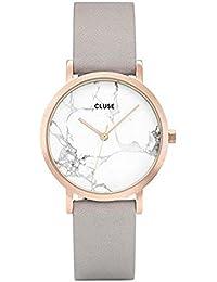 Cluse Reloj Digital de Cuarzo Unisex con Correa de Cuero – CL40103