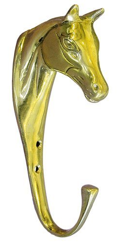HKM 6114 Trensenhalter - Pferdekopf - aus Messing, M