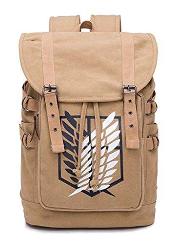 Cosstars Attack on Titan Anime Cosplay Canvas Backpack Schultasche Rucksack Drawstring Büchertasche Daypack