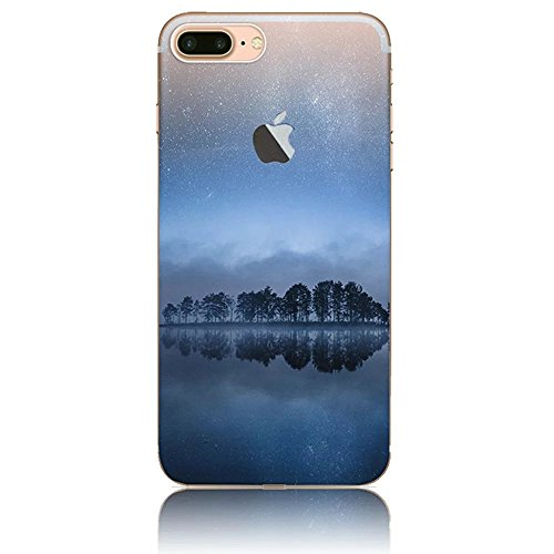 iPhone 7 Plus Hülle, Vandot Malerei Painting Case Cover für iPhone 7 Plus Natur Design Landscape Landschaft Schutzhülle aus TPU Silikon Muster Pattern Abdeckung Telefonkasten Ultra Dünn Leicht Soft Ha Color 14