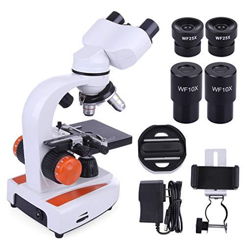 qualit/é Recherche Microscope Binoculaire T/ête Siedentopf oculaires 10X et 25X SWIFT SW380B 40X-2500X Grossissement Champ M/écanique Condenseur Abbe Mise au Point Ultra Pr/écise PRISE UK