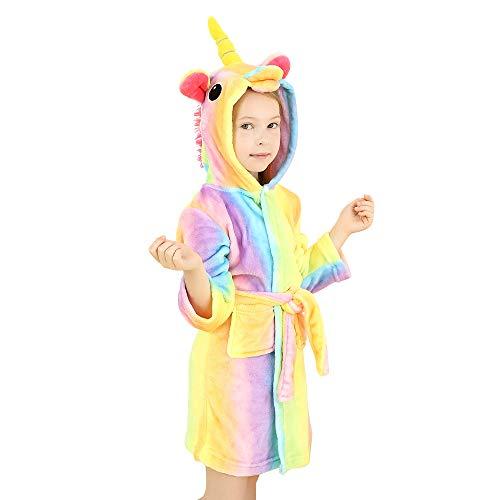 Wgde toy Juguetes para niñas de 2-3 años, Albornoz con Capucha de Unicornio Suave...