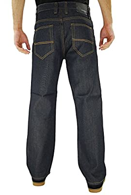 Kayden.K Loose Fit Straight Leg Jeans Indigo Timber