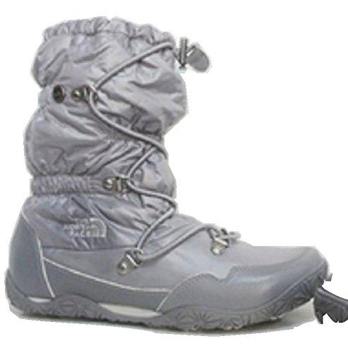 Femmes North Face &Quot;Ice Queen&Quot; Plates Brillant Feuille Gris Winter Chaussures de Marche - Gris - Gris,
