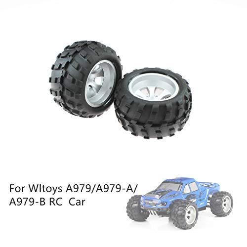 Mitlfuny Auto-Modell Plüsch Bildung Squishy Spielzeug aufblasbares Spielzeug im Freien Spielzeug,2 STÜCKE Räder Reifen Ersatzteile Für Wltoys A979 / A979-A / A979-B Fernbedienung Auto