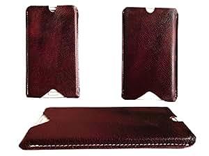 ATV Brown Genuine Leather Designer Pouches For VIVO X6S