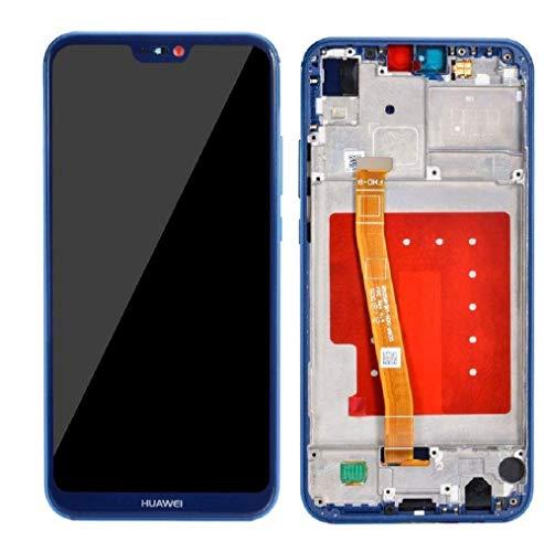 SPES LCD Display für Huawei P20 Lite Touchscreen/Bildschirm/Rahmen Blau +Wekzeug-Set -