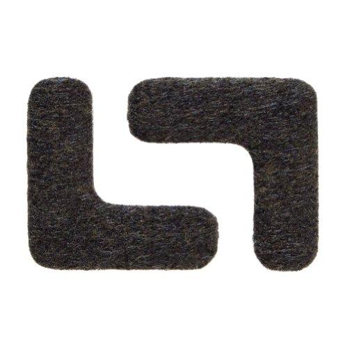 Filzgleiter für Ecken, ca. 3,8 x 3,8 cm, extra strapazierfähiger Filz, selbstklebend, 16 Stück, braun; als Bodenschutz für Möbelfüße, Tischbeine, Stuhlbeine, Stühle - Made in Canada