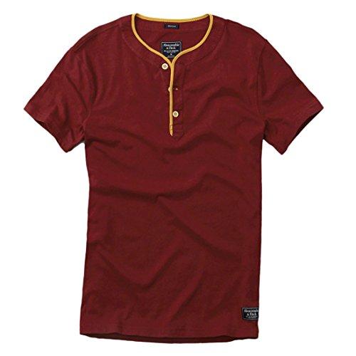 abercrombie-mens-vintage-athletic-slim-fit-henley-tee-t-shirt-size-l-burgundy-623750123
