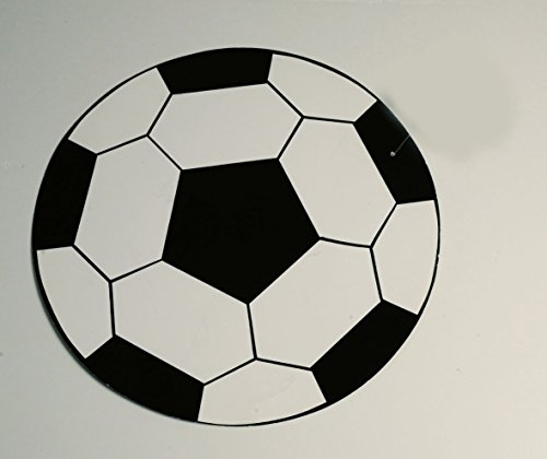 Ballon de football Noir/blanc Diamètre : 25 cm DS Imprimé, carton