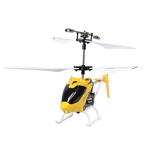 Syma W25 RC Helikopter Mini Drohne RC Flugzeuge mit Gyro Fernbedienung TIME4DEALS Indoor Spielzeug für Kinder (Gelb)