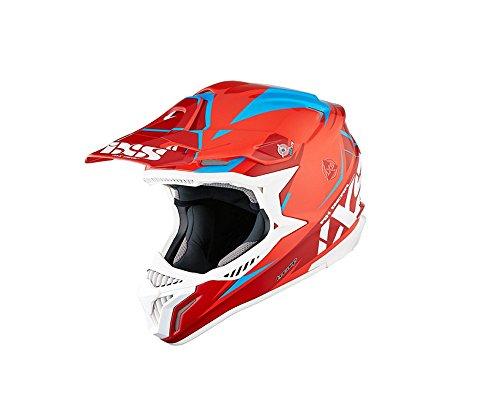 Motocrosshelm IXS HX 179 FLASH rot-blau Gr.XS