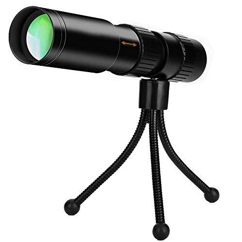 YLOVOW Telescopio Monocular De Alta Potencia 10-300X32 Portátil Compacto Ámbito Monoculares con Smartphone...