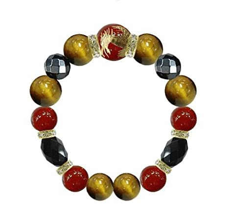 We dragon bracelet size M Carnelian / Tiger Eye (japan import)