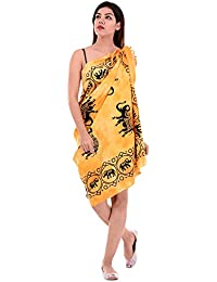 00b705ca09bbf Handicraft-Palace Yellow Elephant Printed Sarong Wrap Swimsuit Cover Up  Swimwear Cover Ups for Women