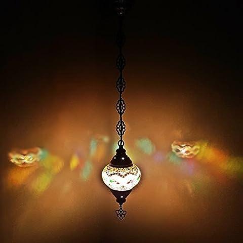 Türkisch Marokkanische Bunt Mosaik Wandbehang Lampen Licht - MC11_Hanging Light