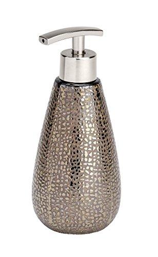 Wenko 21643100 Seifenspender Marrakesh, Flüssigseifen-Spender, Fassungsvermögen 0,400 L, Keramik, 8 x 18,6 x 8 cm, braun
