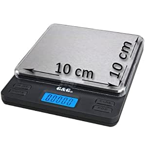 g & G Balance digitale LS 200g/0,01g pour balance or Balance Balance de cuisine Porte-monnaie 10cmx10cm Surface de pesée extra large Scale