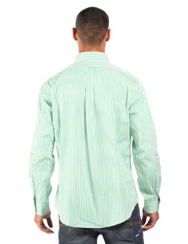 Ralph Lauren - Herren Anzughemd gestreift - klassischer Schnitt - Grün/Weiß Grün/Weiß