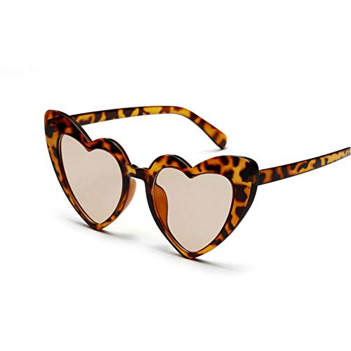 GBST Women Cat Sunglasses Luxury Metal Frame Red Lens Vintage Brand Narrow Triangle Sunglass with Box,Leopard Brown