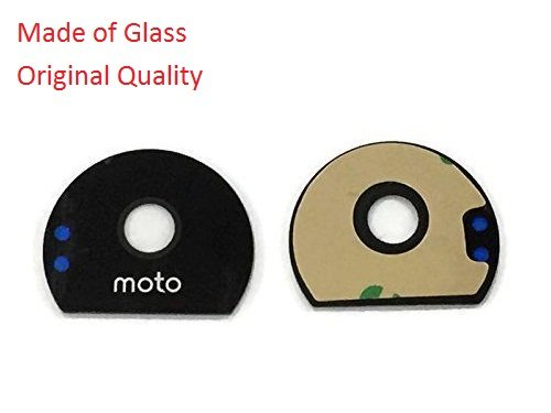 Shockware Camera Lens Glass Back/Rear With Adhesive Sticker Replacement Part Compatible With Motorola Moto Z Play : Black
