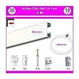NEWLY - Sistema a binario Click Rail, Pack Eco 4 m blanc laqué (RAL9010)