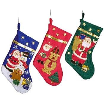 Lot de 3 bottes Père Noël et bonhomme de neige