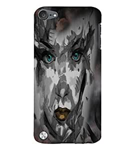Fuson Night Haunted Girl Face Back Case Cover for APPLE IPOD TOUCH 5 5th Gen - D4116