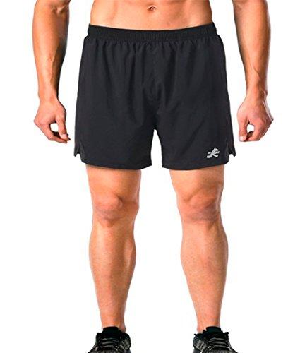 ReDesign Apparels Men's Sports Shorts, Large (Black, Nsshorts)