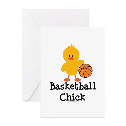 CafePress - Basketball Chick - Grußkarte, Notizkarte, Geburtstagskarte, innen blanko, glänzend - Basketball-küken
