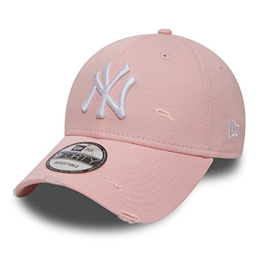 Unbekannt New Era 9forty Strapback Cap MLB New York Yankees Distressed Pink, OSFA