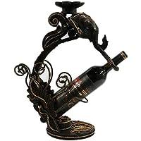 CN Artesanías Hechas A Mano De Madera Multifuncionales Creativas, Decoración del Estante del Vino De La Cabeza del Elefante,Color de Madera,1