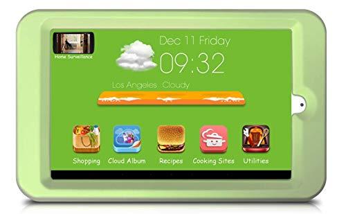 Küchendisplay, 20,3 cm HD IPS-Bildschirm, Kühlschrank-Stuck-Design, vorinstallierte Rezepte, Top-Kochstellen, Cloud Album, Küche, Internet Radio & Musik, Online-Lebensmittel - Freunde Online