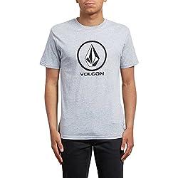 Volcom Crisp BSC SS Camiseta Manga Corta, Hombre, Gris, S