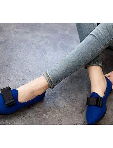 WSS 2016 Chaussures Femme-Décontracté-Noir / Bleu / Rouge / Blanc / Bordeaux-Talon Bas-Talons-Chaussures à Talons-Laine synthétique red-us6 / eu36 / uk4 / cn36