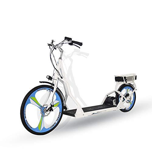 GWJ Tapis roulant per Bici 2 in 1, Walking Trainer per Bicicletta con Doppio Freno a Disco Comfort Corsa elettrica per Uomo e Donna per Il Tempo Libero, batterie al Litio,Red