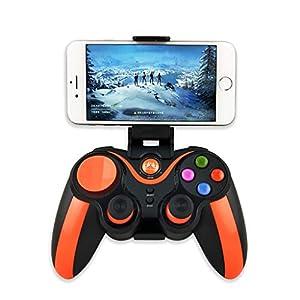Dkings Bluetooth-Controller, Wireless Gamepad Orange Bluetooth-Handyspiel-Handle direkt verbunden Mame Android iOS für In- und Ausland für Chuangyou S5plus (Orange)
