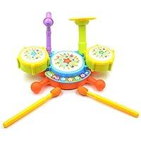 Creation® Bambino bambini Musica giocattolo Mini Developmental Musical Drum Set per i bambini -1 set