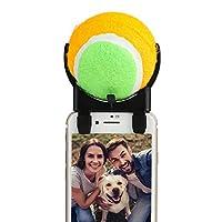 Uhomely Bâton à Selfie pour Chien avec Balle détachable pour Smartphone et Tablette Vert