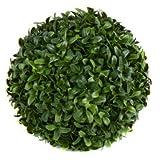 Buchsbaumkugel, wetterfest, 21 cm - Grün/Dunkelgrün (künstlich)
