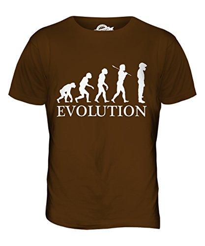 CandyMix Rennfahrer Evolution Des Menschen Herren T Shirt Braun