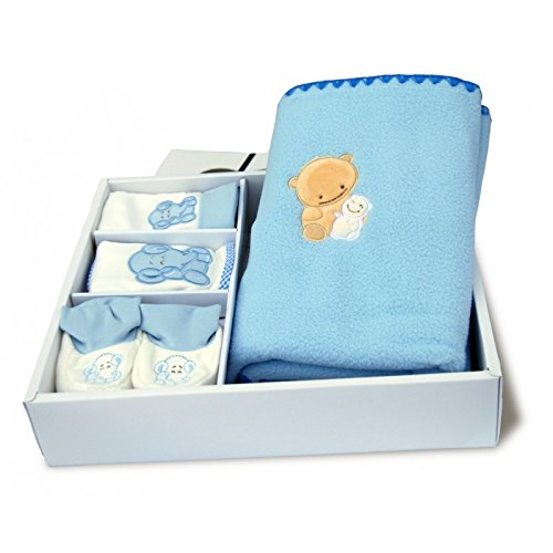gift-of-birth-newborn-baby-fleece-blanket-hat-bib-baby-bow-slippers-blue