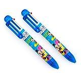 HAND multicolore Pen bambini Topolino e Minnie retrattile a sfera 6 colori penna Confezione da 2