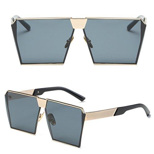 Logres 1 Paar Damen Fashion Retro Oversized verspiegelt Designer Sonnenbrille Brille (#016) - Gdgy