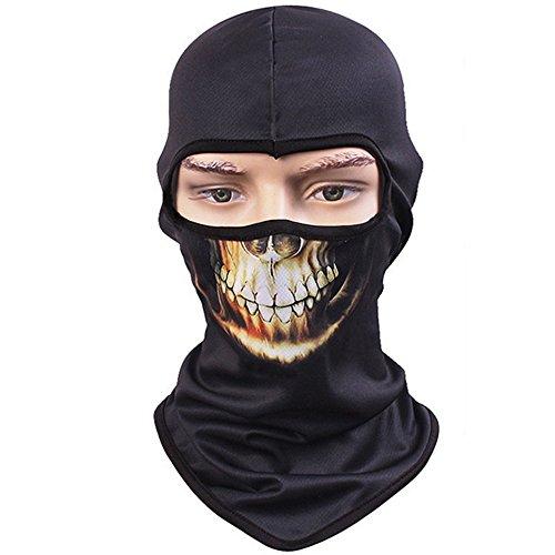 Vertvie Unisex Maske Atmungsaktiv Gesichtsmaske Halloween Motorrad Ski Snowboard Fahrrad Maske Outdoor Sport Schlauchtuch 3D Druck Sturmhaube(One Size, Motiv (Masken Awesome)
