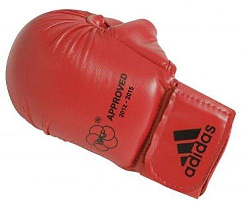 adidas - mitaines karate homologuees wkf - ffkama gel avec pouce - m - rouge