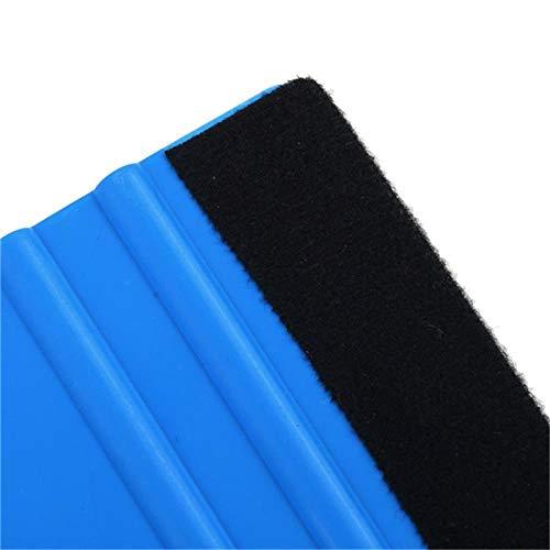 LIANGEGE Autowaschlappen Rechteckiger langlebiger handgehaltener Autoschaber Applique Wrap-Applikator Weicher Filzrandschaber Handwerkzeug Blau -