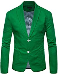 Uomo Moda Ccasual Slim Fit Un Pulsante Tuta Giacca Blazer Cappotto 00960e685c8